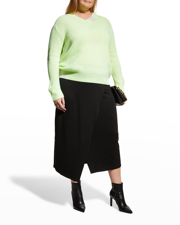 Plus Size Candyland V-Neck Cashmere Sweater