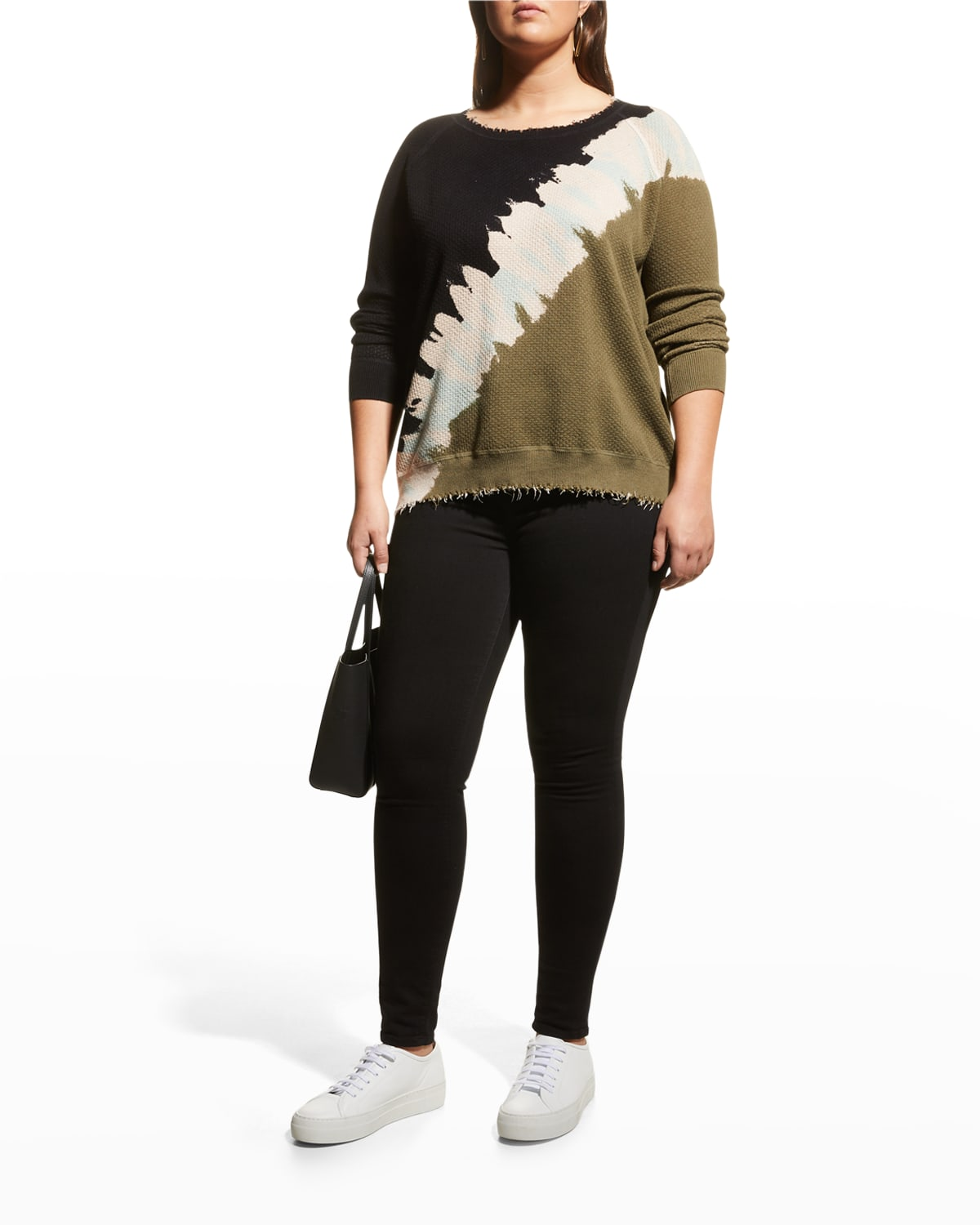 Plus Size The Eclipse Printed Sweater