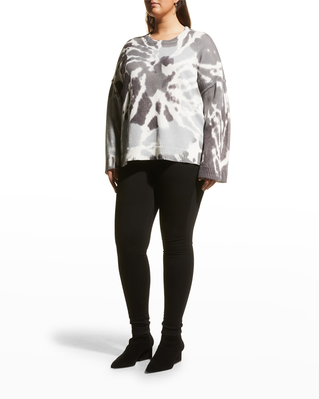 Plus Size Dreamscape Tie-Dye Sweater