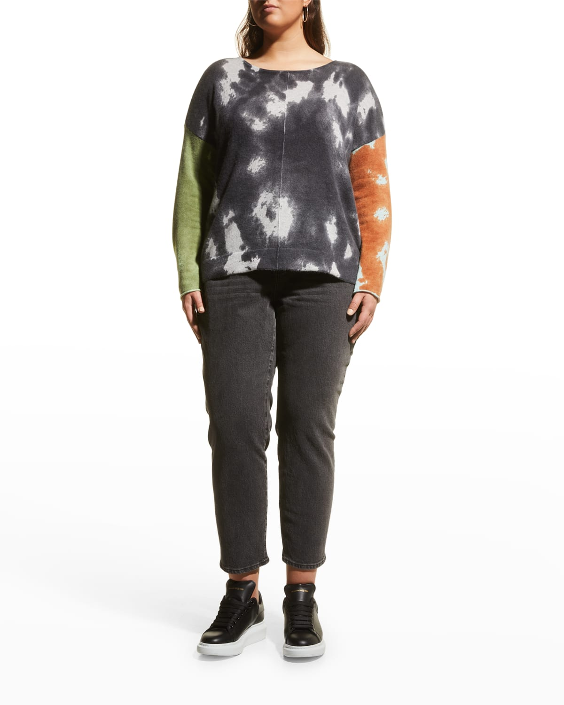 Plus Size Pop Art Cashmere Sweater