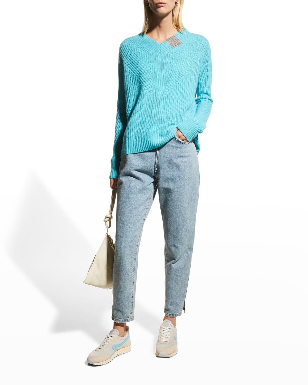 Candyland V-Neck Cashmere Sweater