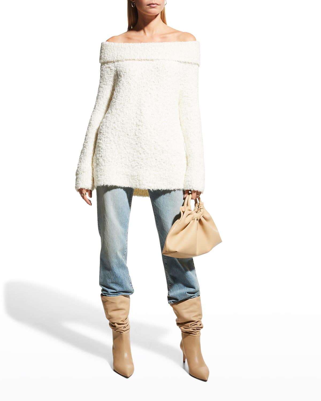 Leya Wool-Blend Boucle Sweater