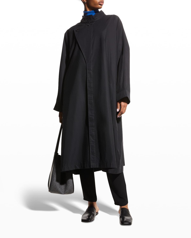 Wide sloped shoulder Mid Raincoat