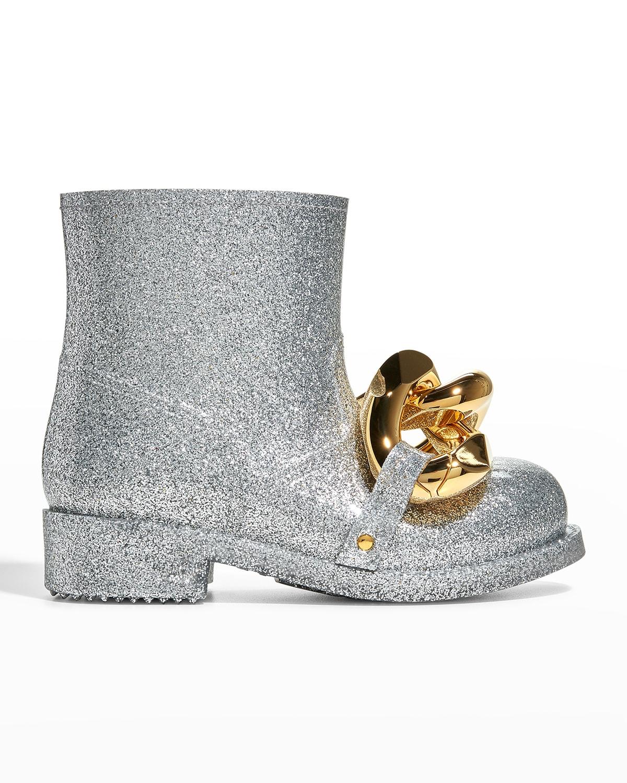 Glitter Chain Rain Boots