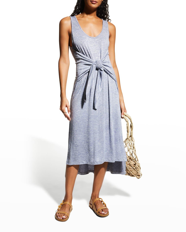 Beach Tie Midi Coverup Dress