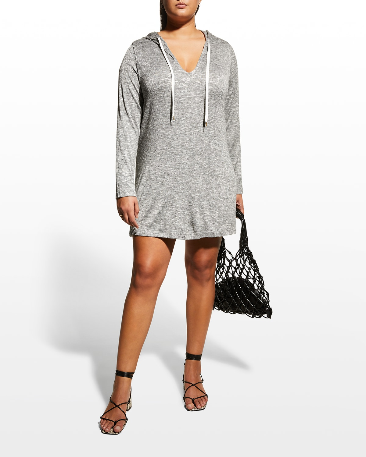 Plus Size Beach Hooded Coverup Tunic