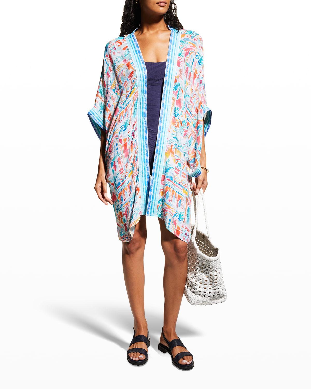 Plus Size Terra Italia Coverup Kimono