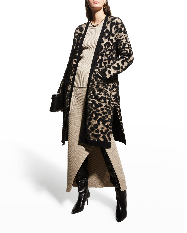 Zendaya Long Cheetah Cardigan