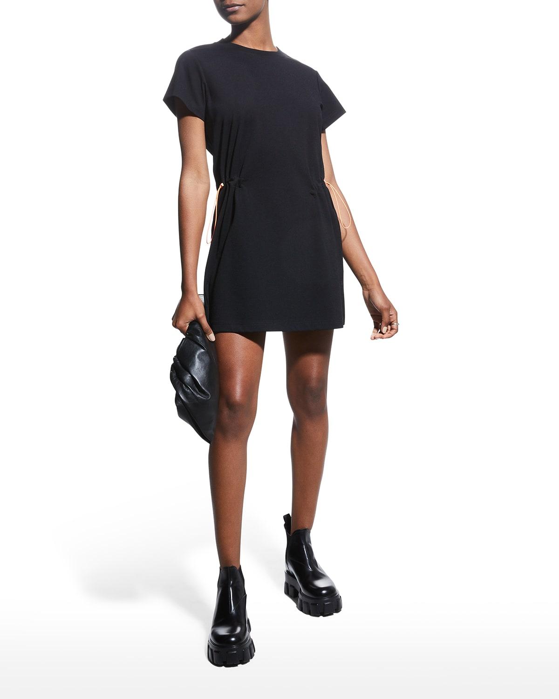 Erika Toggle-Waist Short-Sleeve Mini Dress
