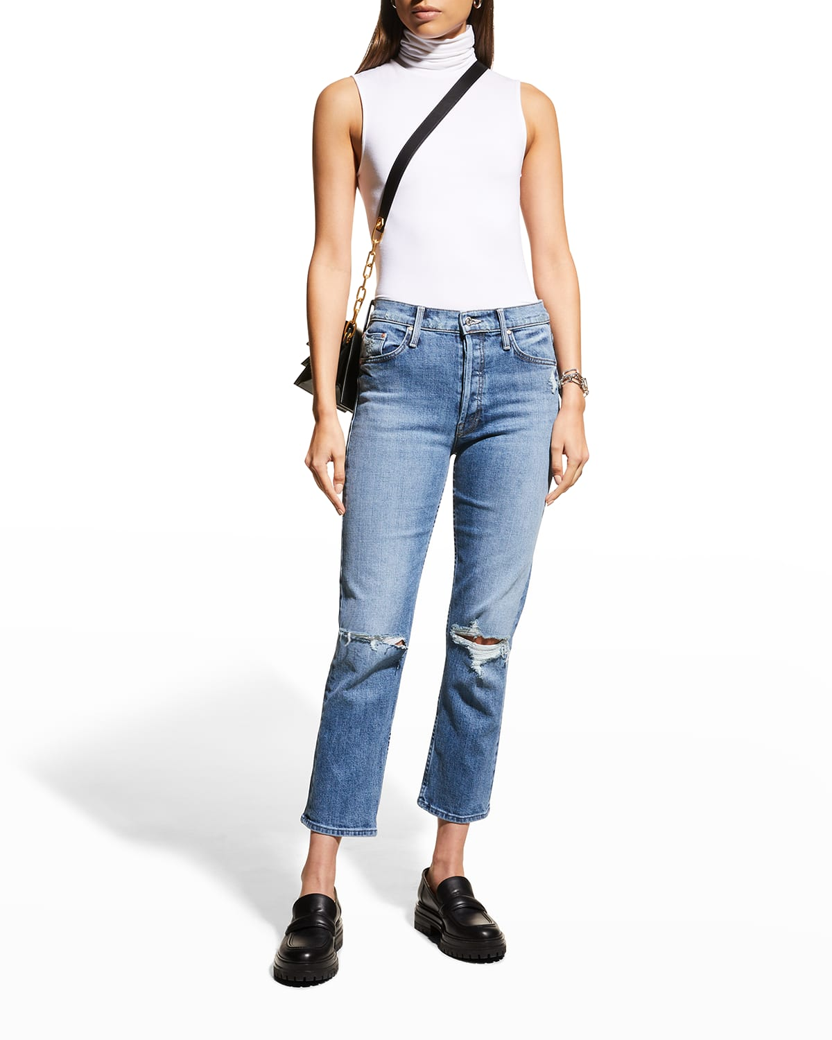 The Tomcat Distressed Ankle Jeans