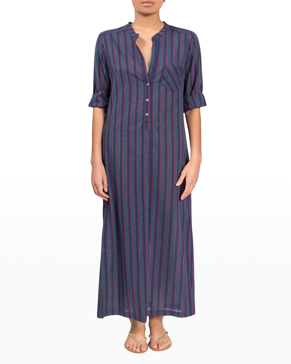 Tracey Striped Long Coverup Dress