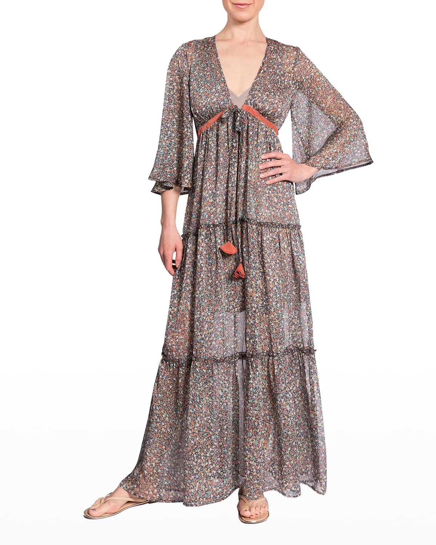 Jennifer Tiered Maxi Coverup Dress