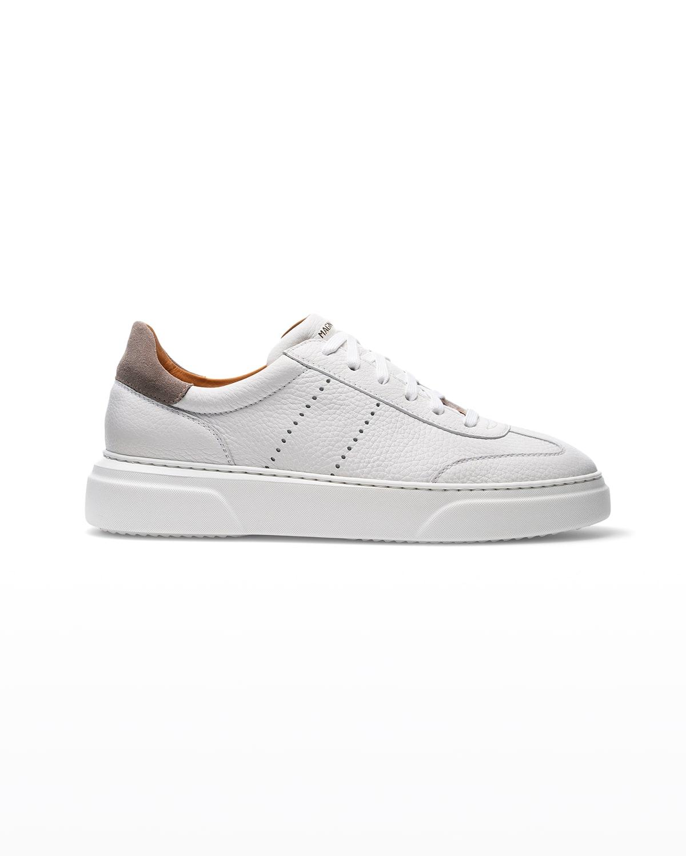 Men's Reina II Textured Leather Low-Top Sneakers