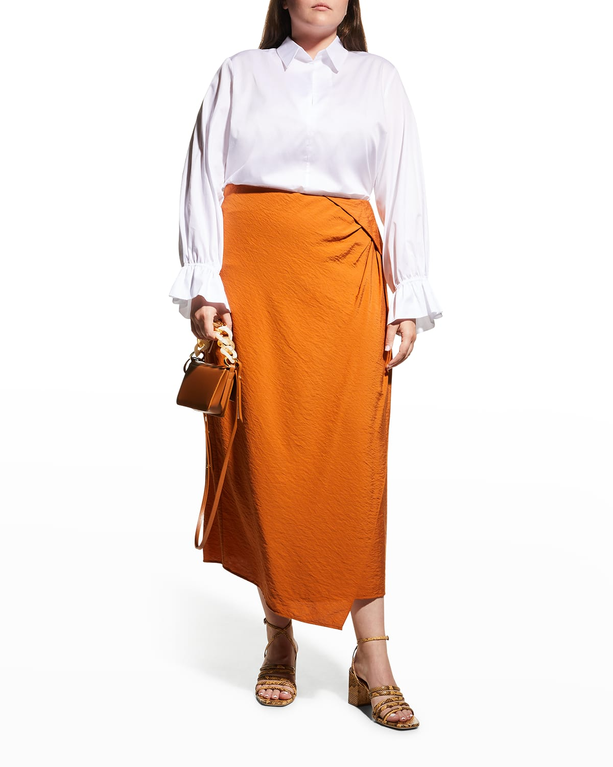 Plus Size Aster Twill Popover Blouse