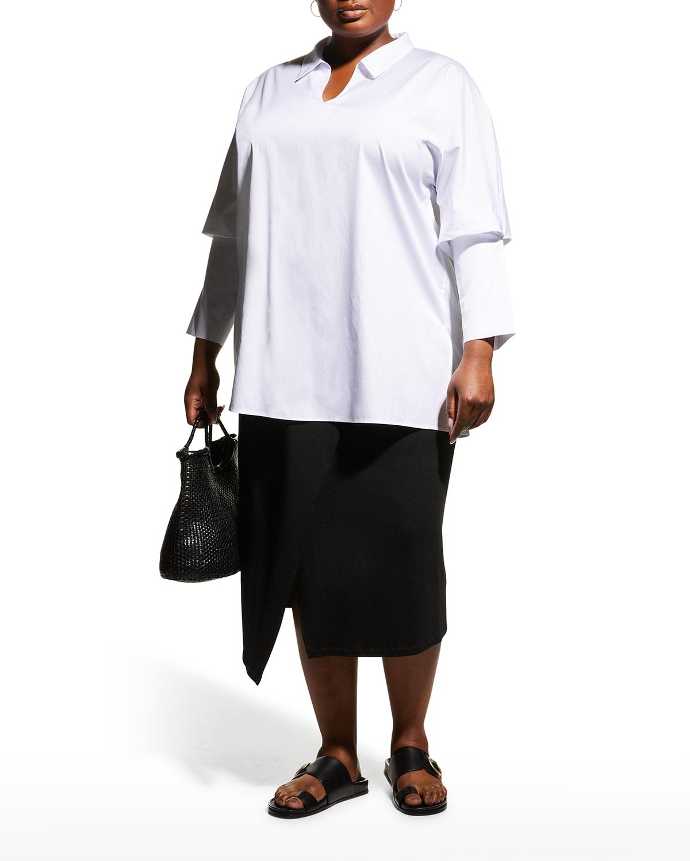 Plus Size Dylan Bishop-Sleeve Tunic