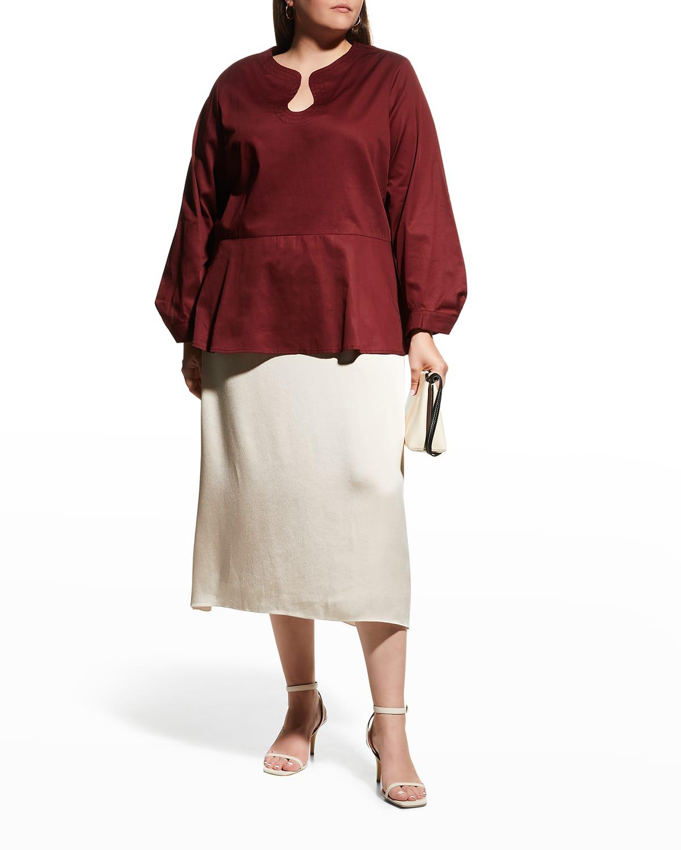 Plus Size Kyra Peplum Blouse