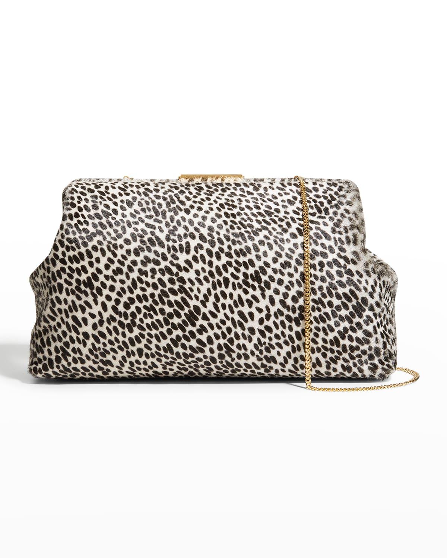 Maxi Florence Animal-Print Large Clutch Bag
