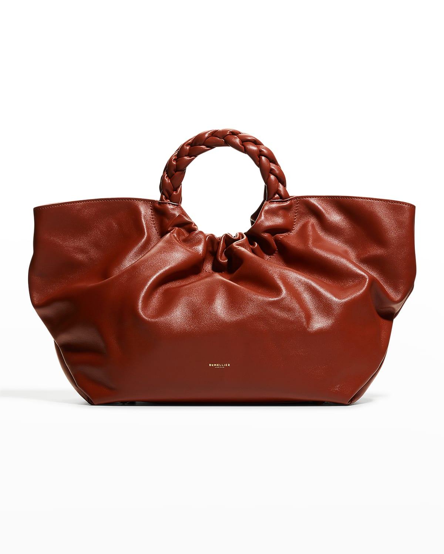 LA Braided Top-Handle Tote Bag