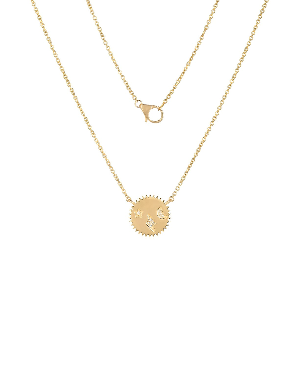 Celestial Disc Small Necklace