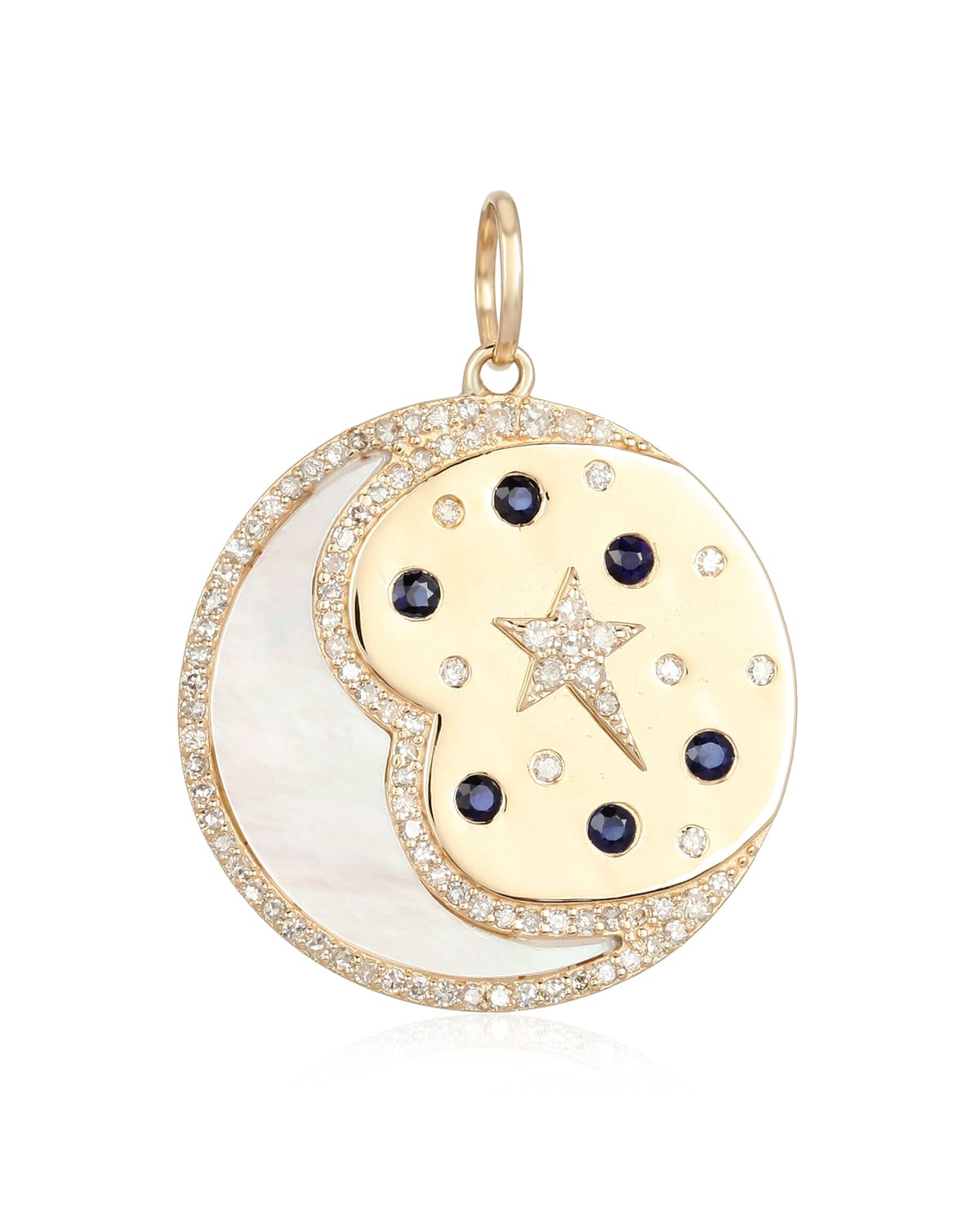 Celestial Mother-of-Pearl Crescent Moon Pendant