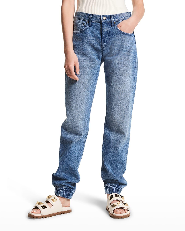 Boyfriend Denim Jogger Pants