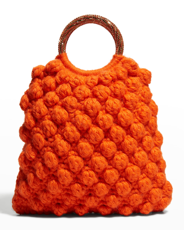 Sachet Crochet Wool Ring Top-Handle Bag