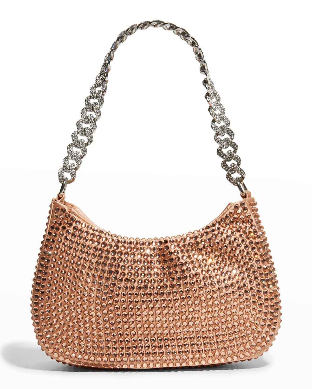 Tessa Crystal Satin Shoulder Bag