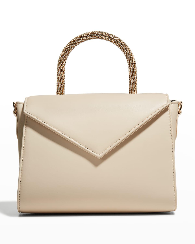 Cookie Big Napa Embellished Top-Handle Bag