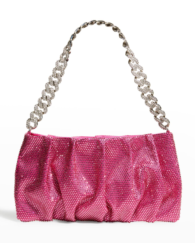 Emily Crystal Satin Chain Shoulder Bag