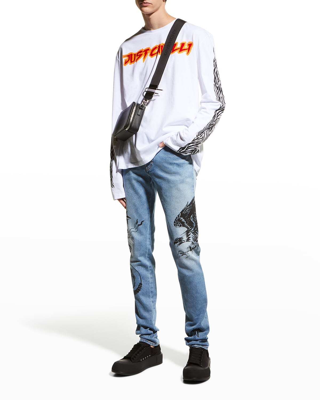 Men's Graphic Slim-Fit Jeans