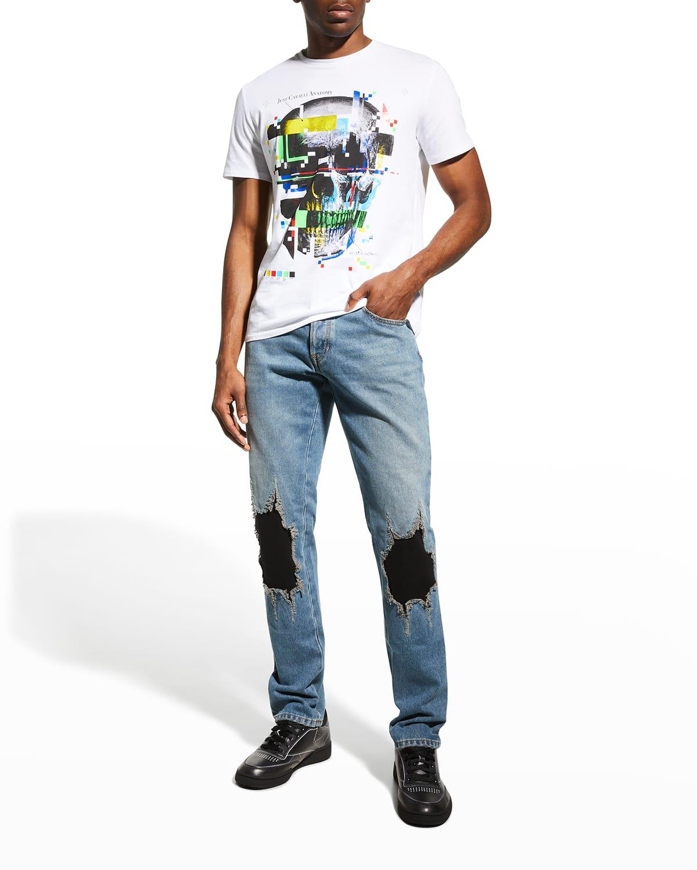 Men's Knee-Patch Straight-Leg Jeans