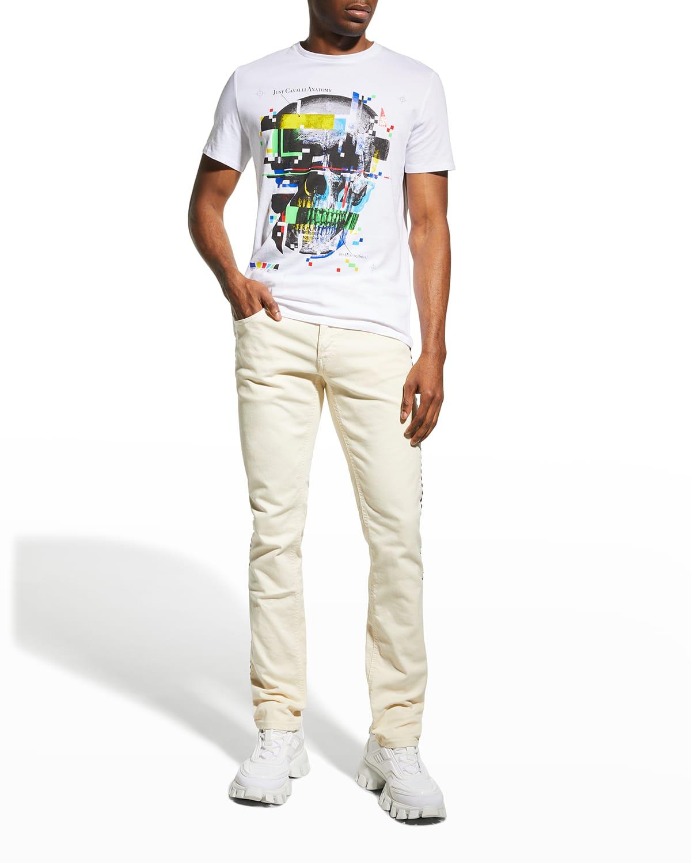 Men's Studded Side-Trim Jeans