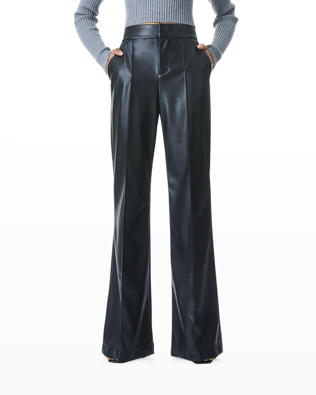 Dylan High-Waist Faux-Leather Pants