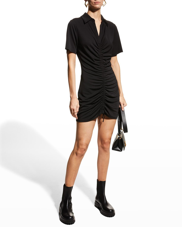 Marsha Ruched Polo Dress