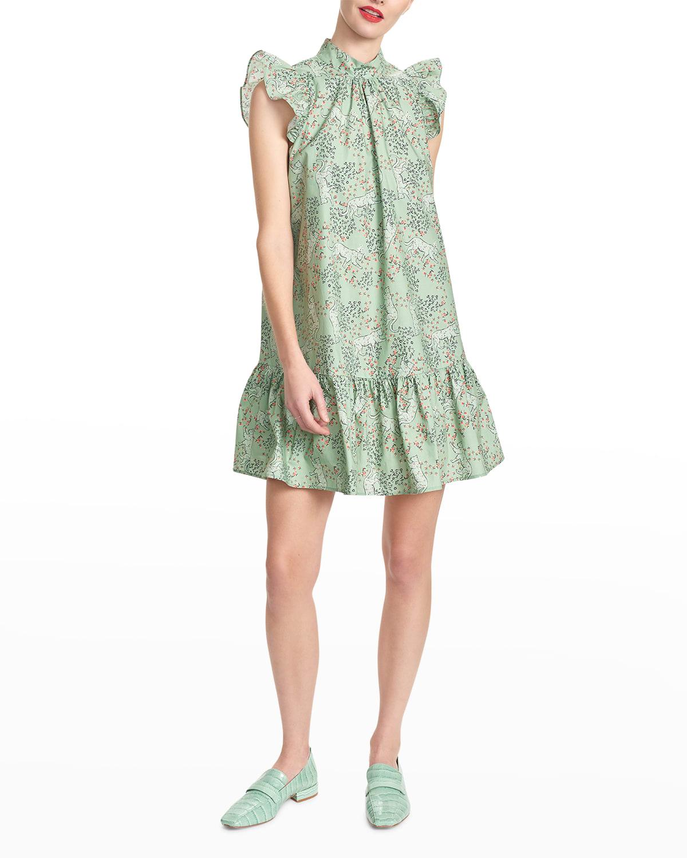 Roanne Printed Ruffle Dress