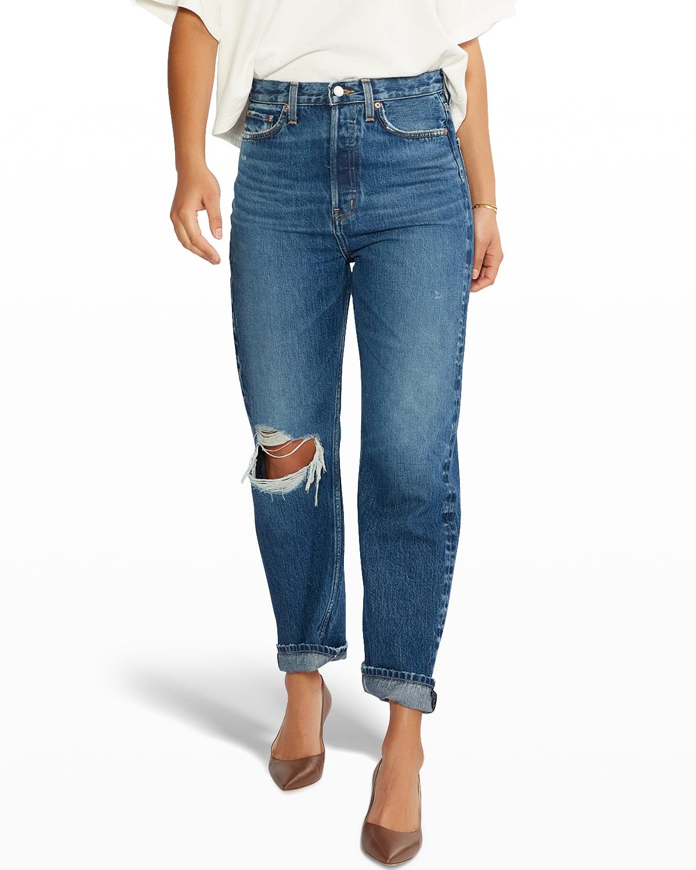 Bryce Pinch-Waist Boyfriend Jeans