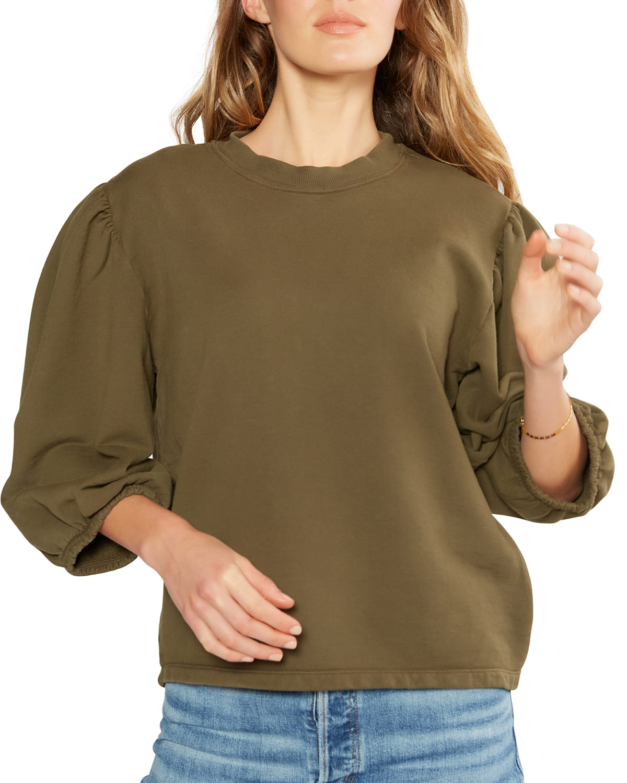 Marie Puff-Sleeve Sweatshirt