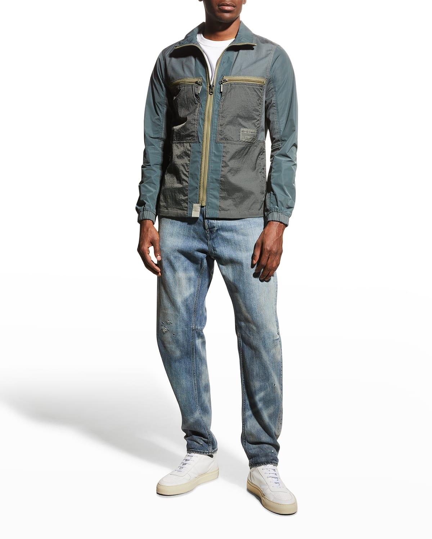 Men's Mixed Zip-Front Overshirt