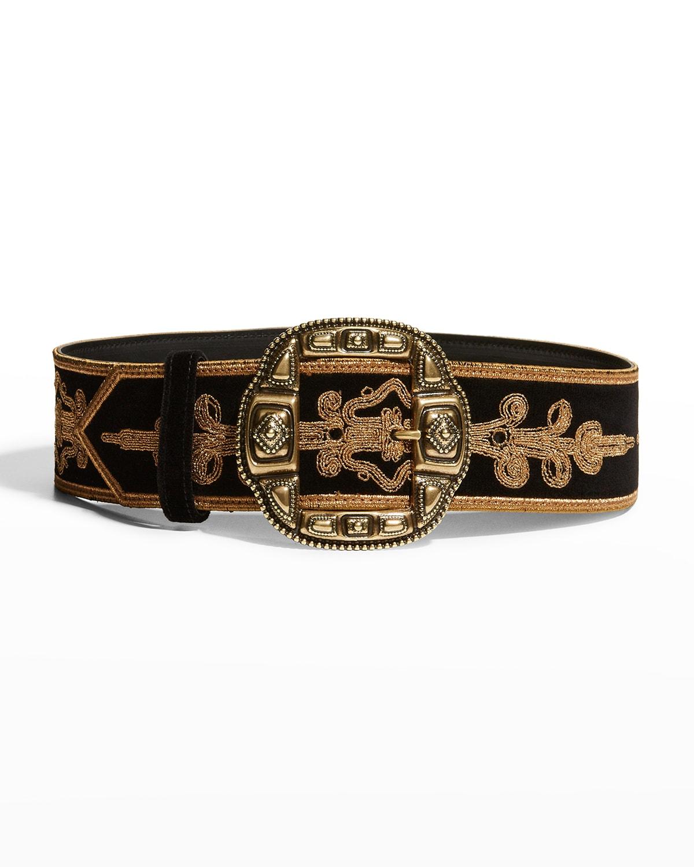 Embroidered Decorative Buckle Belt