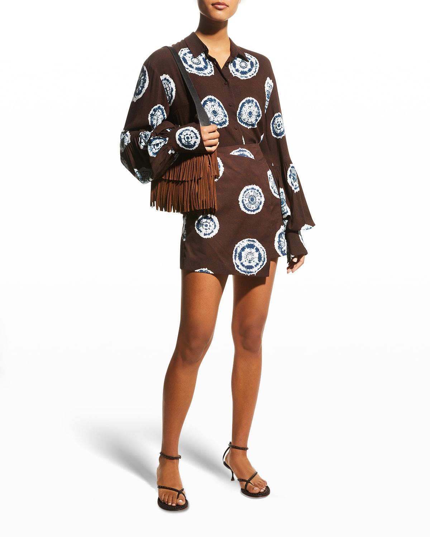 Naydia Mini Wrap Skirt