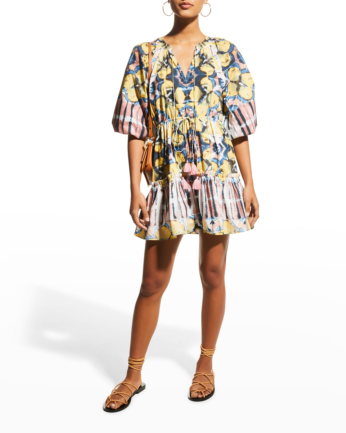 Kasi Abstract Fit-&-Flare Dress