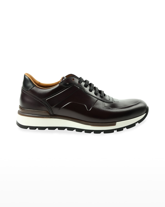 Men's Davio Italian Leather Trainer Sneakers