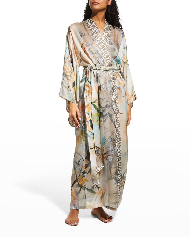 Reflections Long Silk Robe