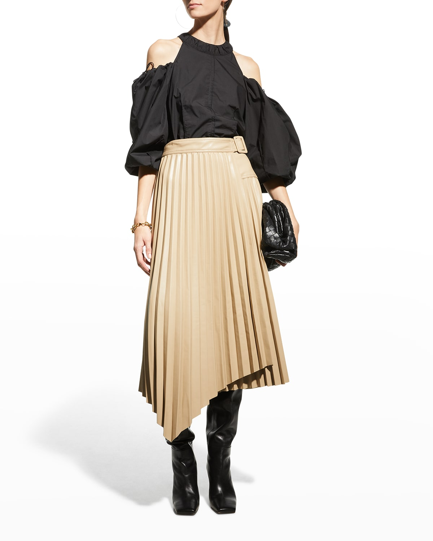 Josie Street Tailoring Cold Shoulder Puff sleeves Top