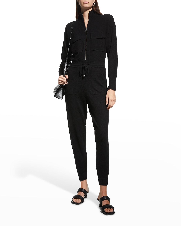 Iman Ribbed Loungewear Zip Jumpsuit