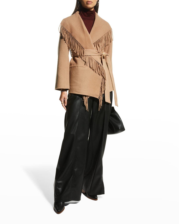 Rowen Melton Wool Fringe-Lapel Jacket