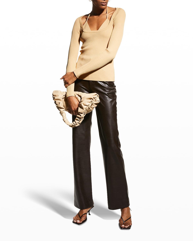 Jayline Compact Rib Scoop-Neck Pullover