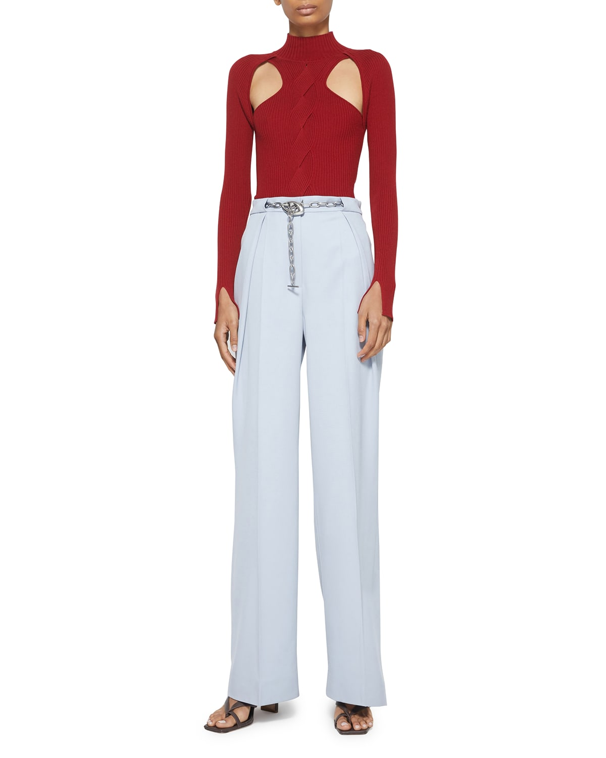Keegan Twisted Cable-Knit Top