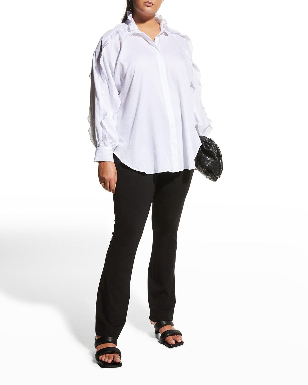 Plus Size Quinn Ruffle-Trim Lawn Shirt