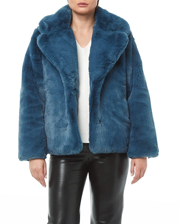 Milly Faux Fur Short Coat